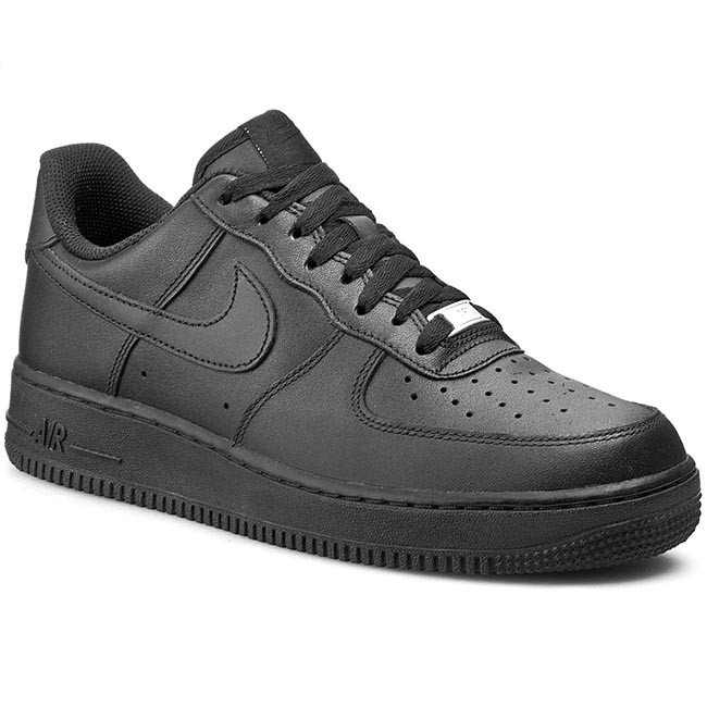 d599fc201 Shoes NIKE - Air Force 1  07 315122 001 Black - Sneakers - Low shoes ...