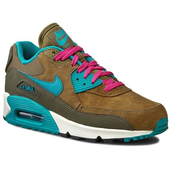 le scarpe nike air max 90 lthr 768887 300 bevi ldn / rdnt emrld mit / grn