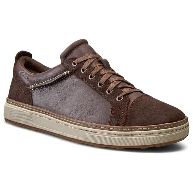 Sneakers CLARKS - Lorsen Edge 26110197 Brown Combi Lea