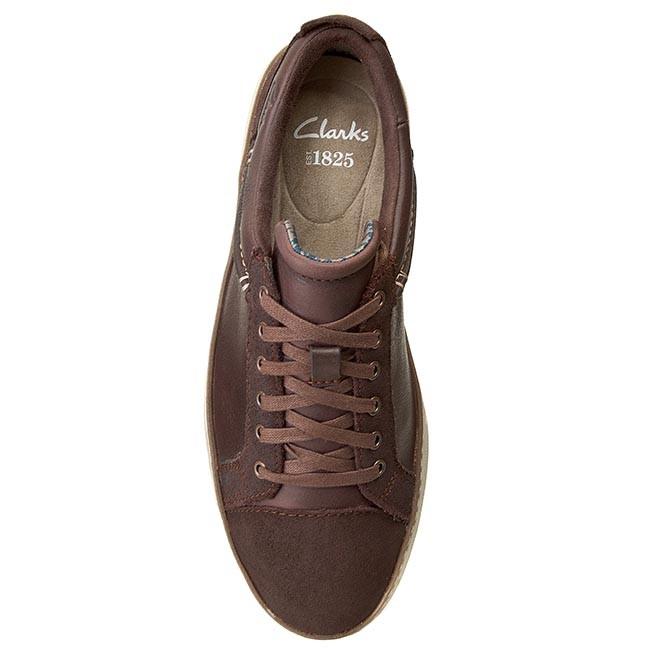 Sneakers CLARKS - Lorsen Edge 26110197 Brown Combi Lea