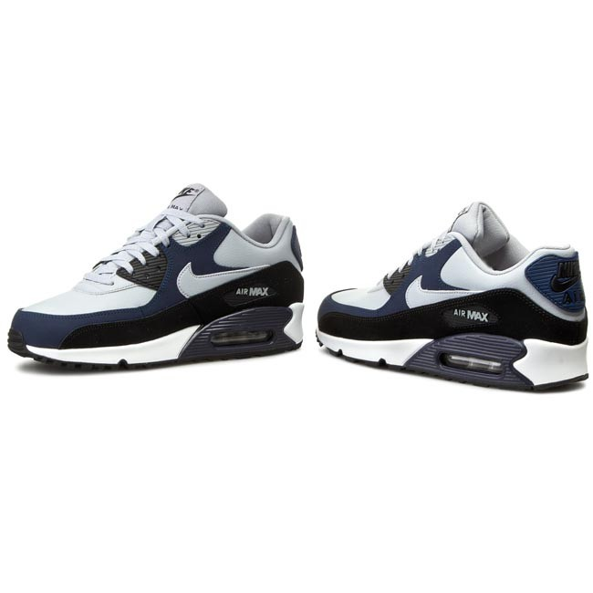 Shoes NIKE - Nike Air Max 90 Lth 652980 011 Wolf Grey/Wlf Grey/Mid Navy/Black