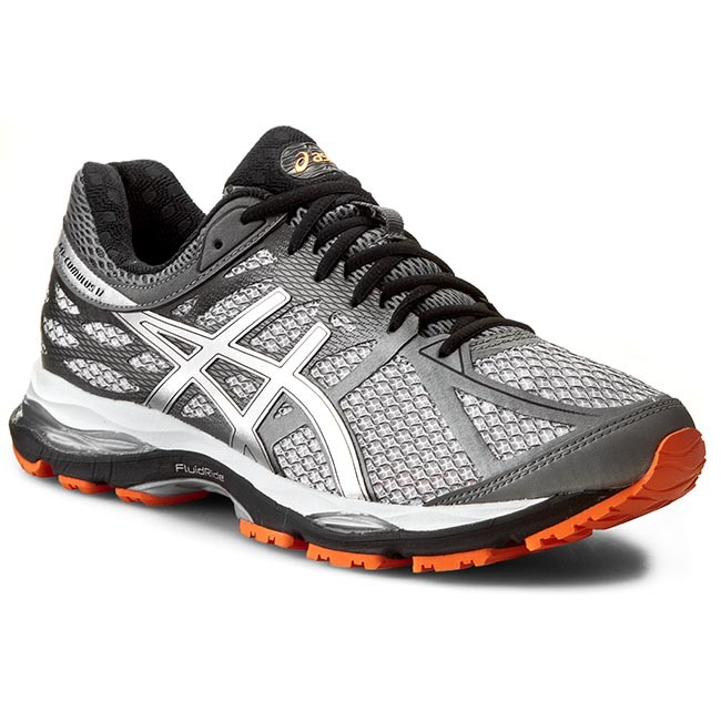 Shoes ASICS - Gel-Cumulus 17 T5D3N White/Silver/Hot Orange 0193