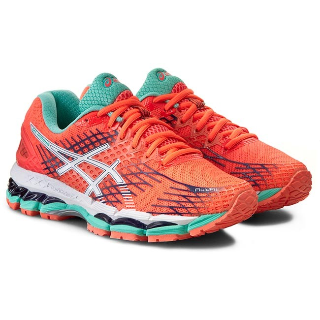 Shoes ASICS Gel Nimbus 17 T557N Flash CoralWhiteIndigo Blue