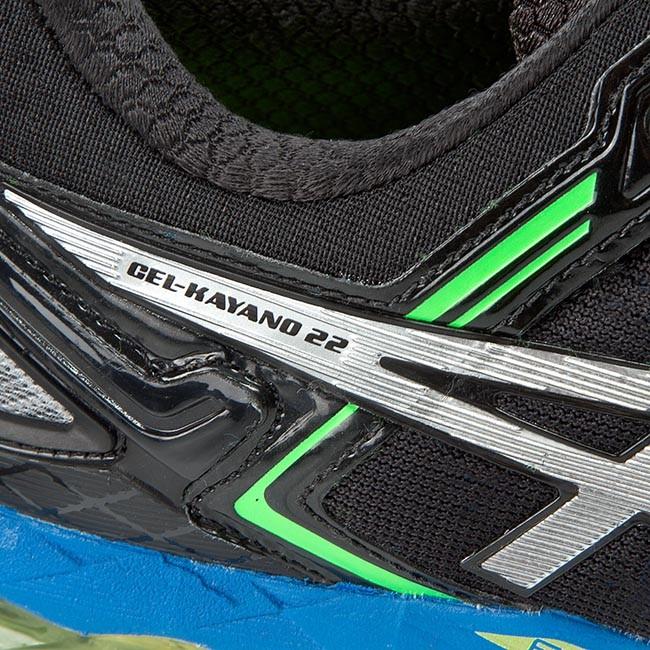 Shoes ASICS Gel Kayano 22 T547N BlackSilverFlash Yellow 9093