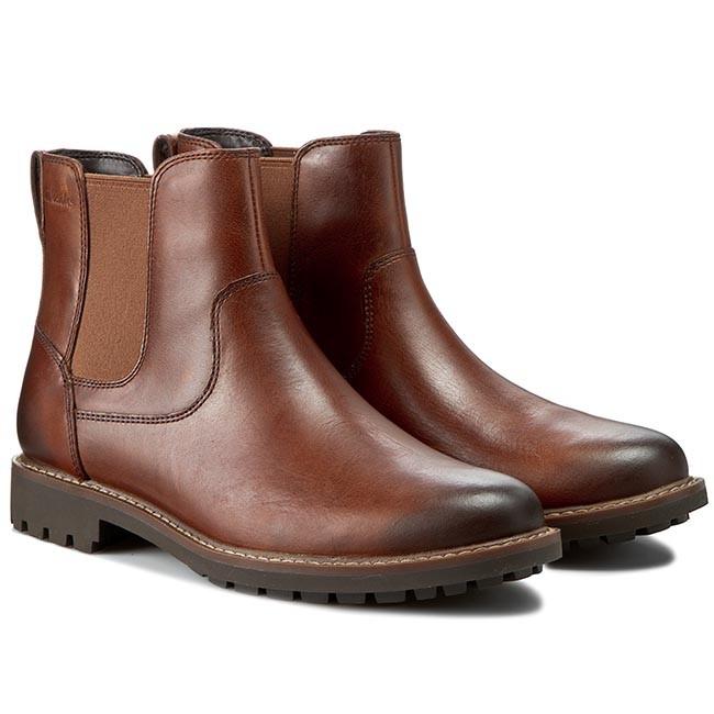 59fb68fc Ankle Boots CLARKS - Montacute Top 261025017 Dark Tan Lea
