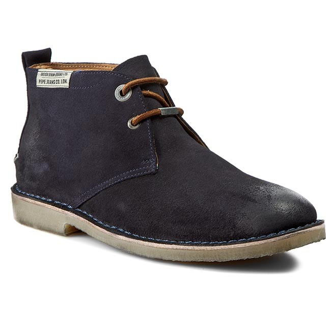Boots PEPE JEANS  Fenix Low Suede PMS50049 Marine 585