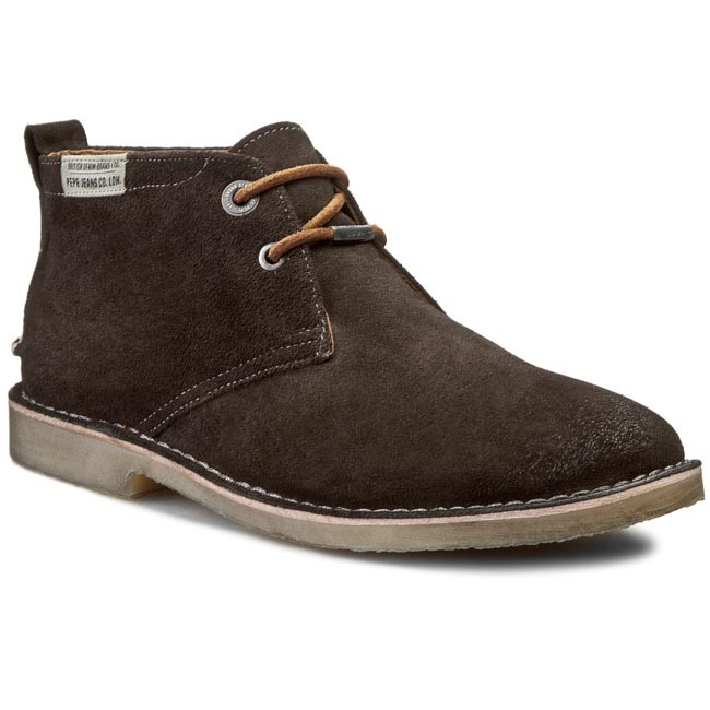 Boots PEPE JEANS - Fenix Low Suede PMS50049 Factory Grey 962