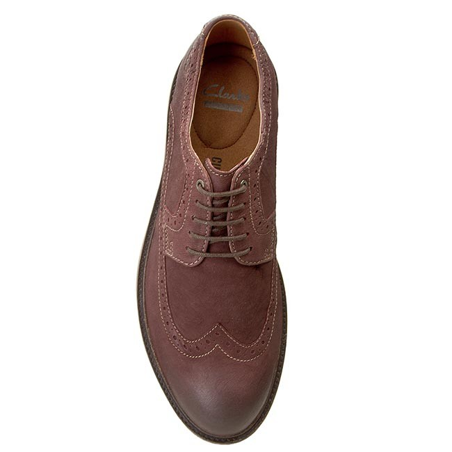 92b251ccd6d Shoes CLARKS - Wahlton Wing 261101877 Chestnut Leather - Casual - Low shoes  - Men s shoes - www.efootwear.eu