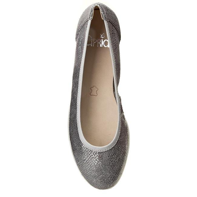 Ballerinas CAPRICE - 9-22150-26 Grey Met. Snake 224 nPndqbc0W