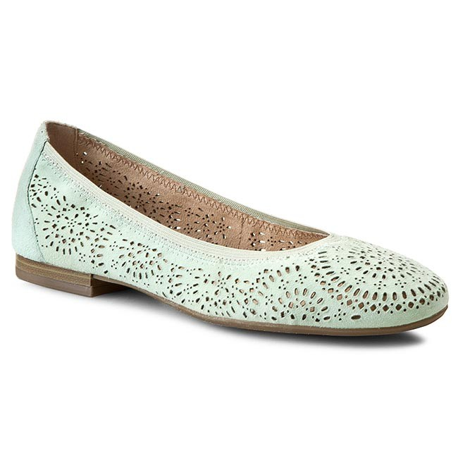 Flats CAPRICE  92250026 Mint Suede 704  Ballerina shoes  Low shoes  Womens shoes       0000197777310