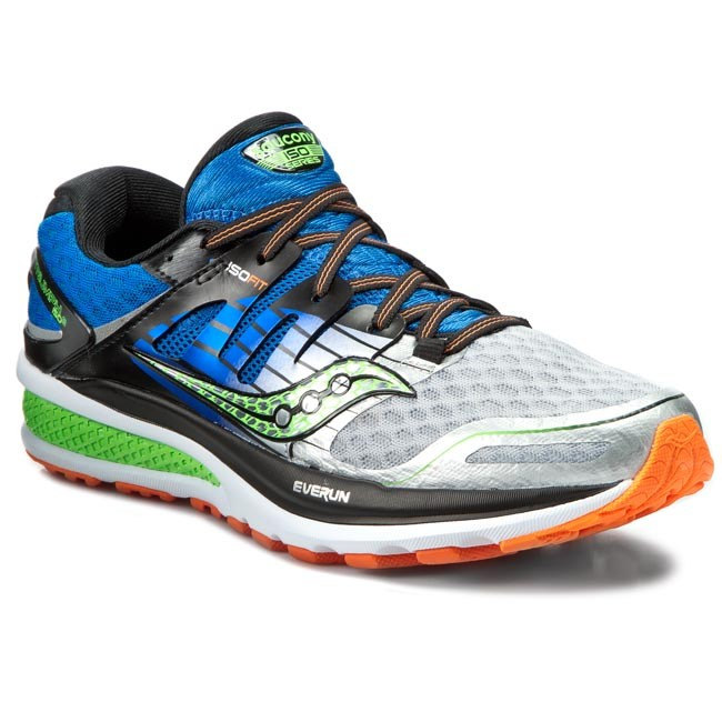 shoes saucony - triumph iso 2 s20290-1 blu/sil/slm - indoor