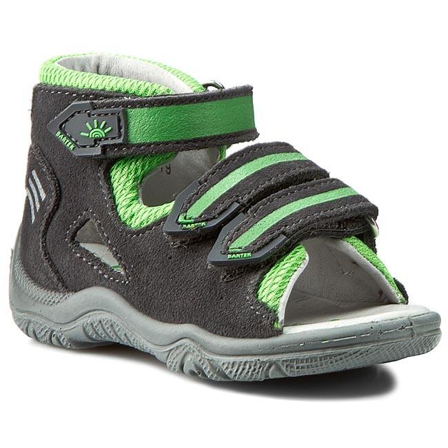 Sandals Clogs 61592 0TX and SzaroZielony BARTEK Sandals w5fqP6IXx
