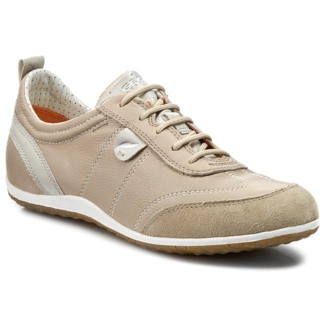 Geox Respira Vega Sneakers in taupe beige Damenschuhe | Geox