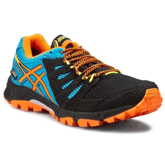 Piquete caravana golpear  Shoes ASICS - GEL-Fuji Attack 4 G-Tx T535N Onyx/Flash Orange/Atomic Blue  9930 - Outdoor - Running shoes - Sports shoes - Men's shoes | efootwear.eu