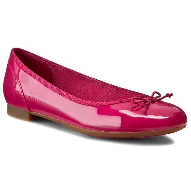 aade84175acb Flats CLARKS - Couture Bloom 261175874 Fuchsia Patent - Ballerina ...