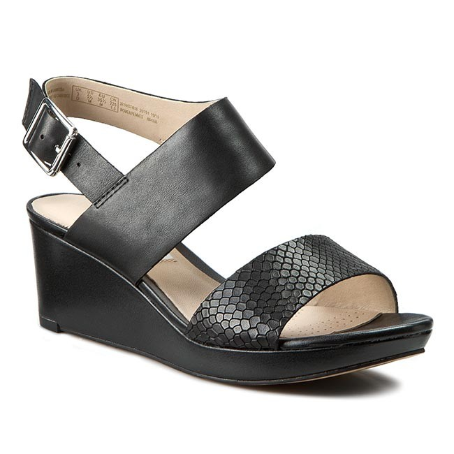 Clarks Ornate Fleur Sandals Color: Black