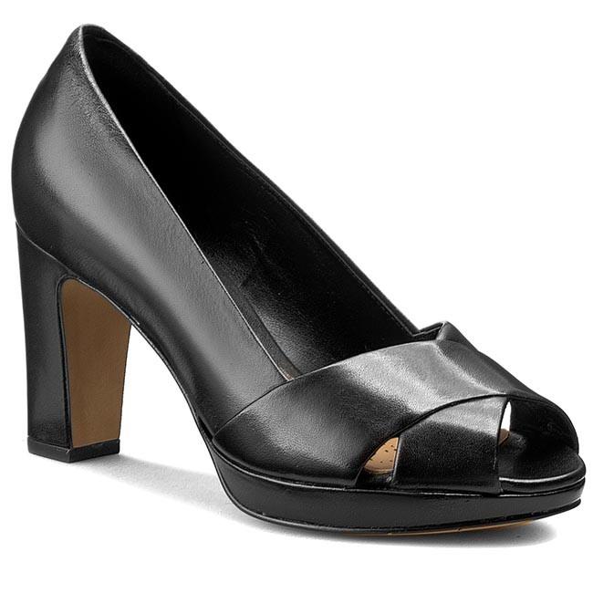 Shoes CLARKS - Jenness Cloud 261159564 Black Leather