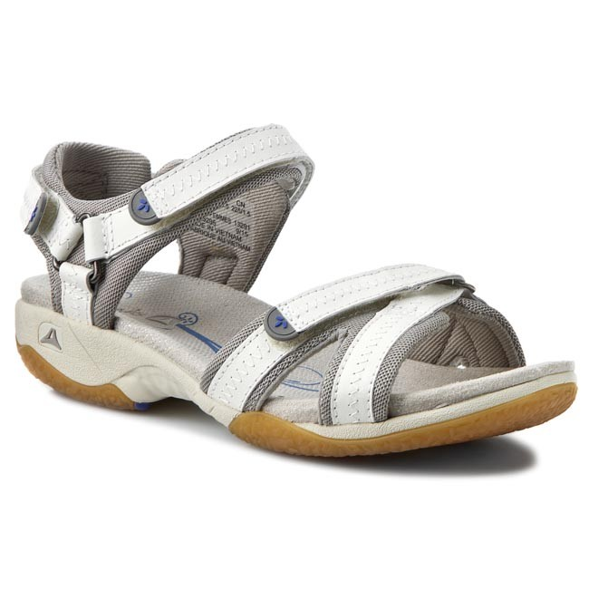 c30b3d7533242 Sandals CLARKS - Isna Pebble 203532954 Grey White - Casual sandals ...