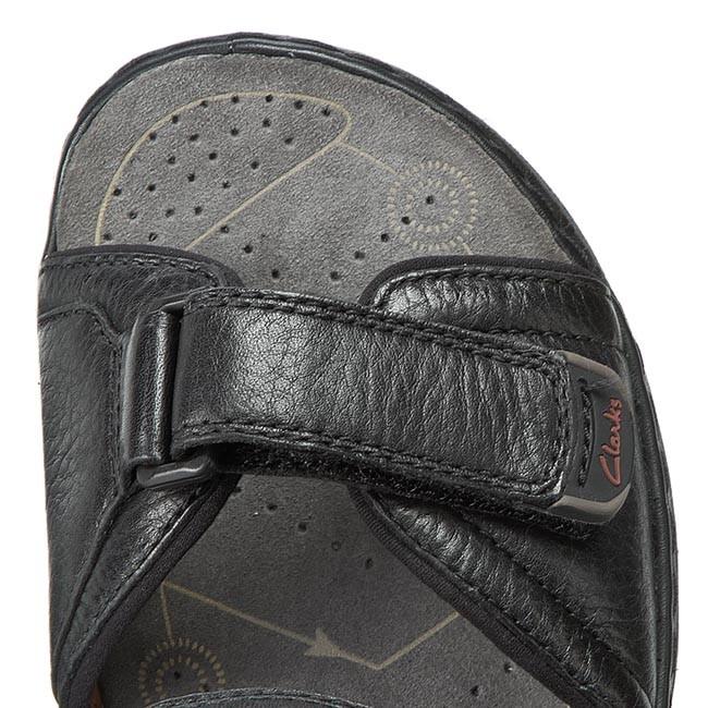 d80eebc9307b Sandals CLARKS - Atl Part 203531957 Black Leather - Sandals - Mules and  sandals - Men s shoes - www.efootwear.eu