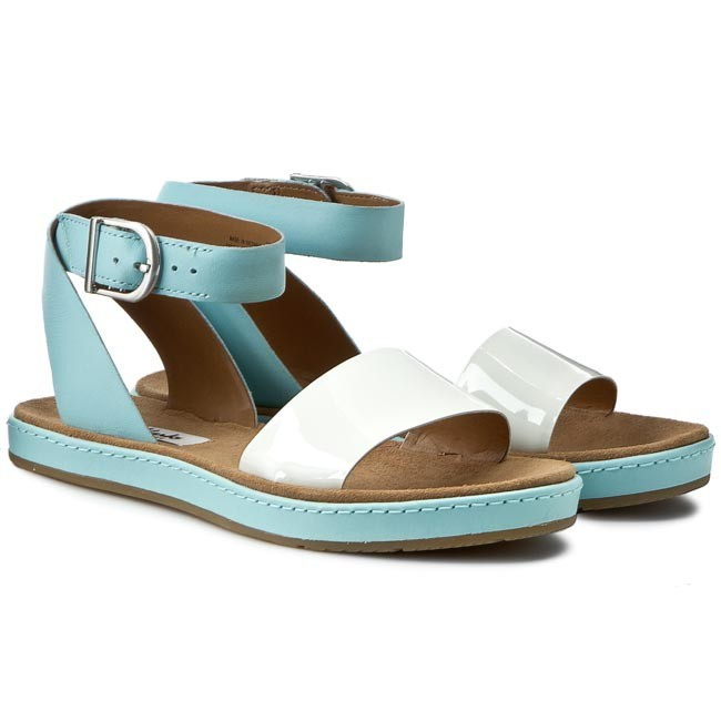 ed376d4c7 Sandals CLARKS - Romantic Moon 261177514 Duckegg Blue - Casual sandals -  Sandals - Mules and sandals - Women s shoes - www.efootwear.eu