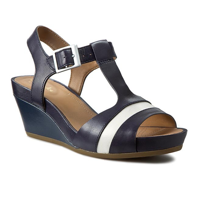 0d77060bd Sandals CLARKS - Rusty Rebel 261157814 Navy Leather - Casual sandals ...