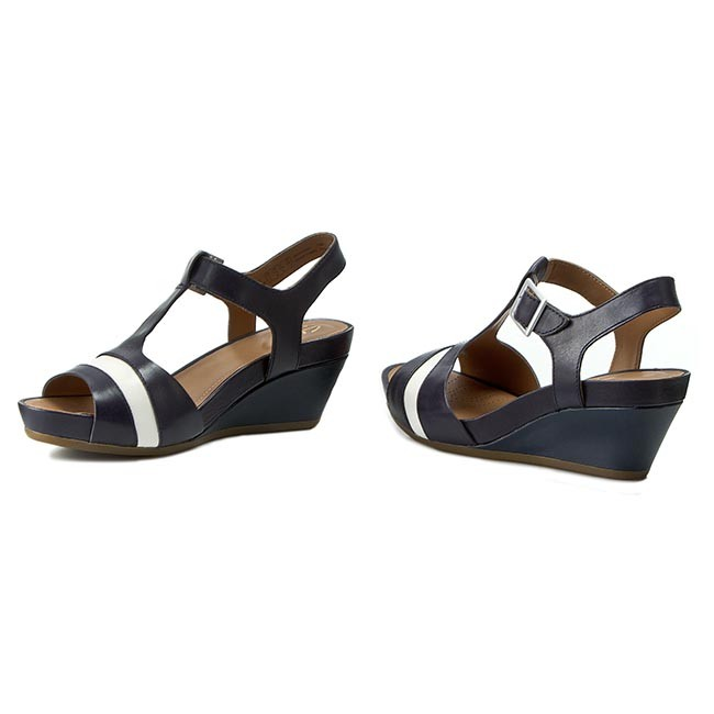 9db70e55f Sandals CLARKS - Rusty Rebel 261157814 Navy Leather - Casual sandals ...