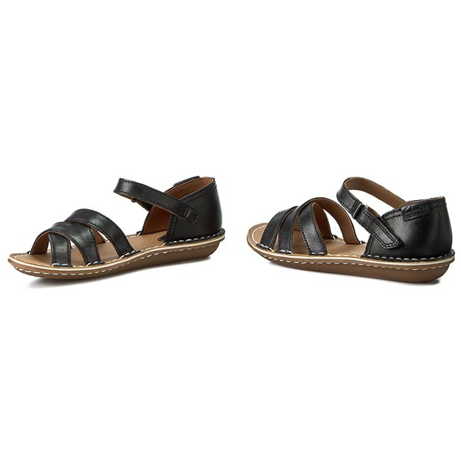 d513f952a86ef Sandals CLARKS - Tustin Sahara 261175264 Black Leather - Casual ...