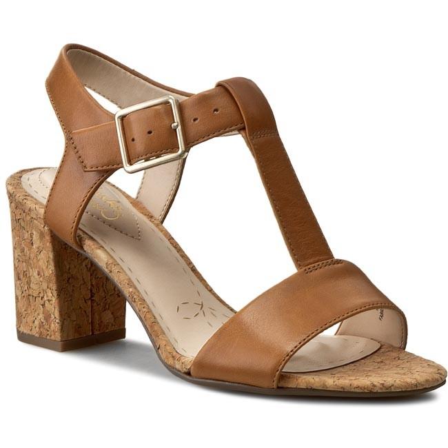 acaa8643400 Sandals CLARKS - Smart Deva 261176914 Tan Leather - Casual sandals ...