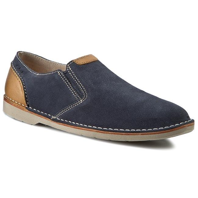 Mens Clarks Hinton Easy Loafers Blue Suede ACI47616