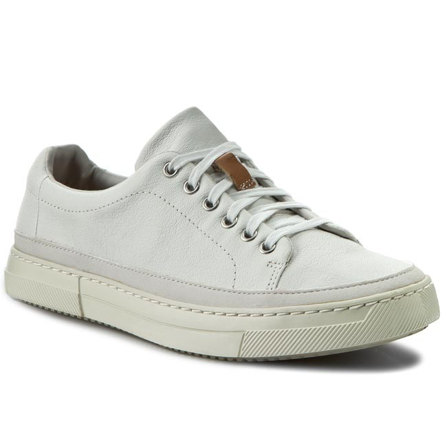 Sneakers CLARKS - Ballof Lace 261171007 White Leather