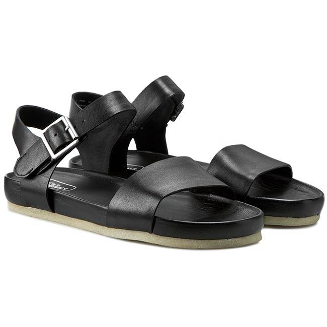b01e6c48fbbd3 Sandals CLARKS - Dusty Soul 261070574 Black Leather - Casual sandals -  Sandals - Mules and sandals - Women s shoes - www.efootwear.eu
