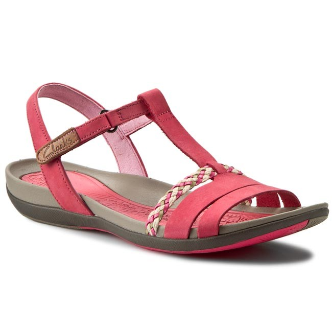 dffc34db3f2 Sandals CLARKS - Tealite Grace 261142824 Red Leather - Casual ...