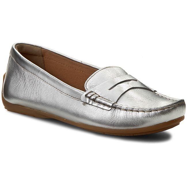 Womens Shoes Clarks Doraville Nest Silver Leather