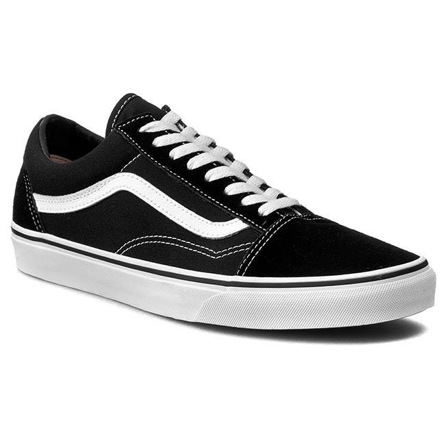 Plimsolls VANS - Old Skool VN000D3HY28 Black White - Sneakers - Low ... dc016626b8