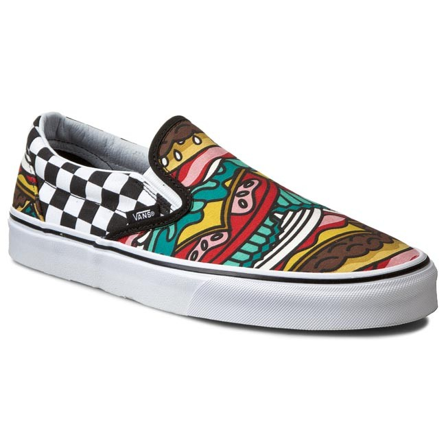 425d8b34865 Plimsolls VANS - Classic Slip-On VN0003Z4IRV Late Night  Burger Check