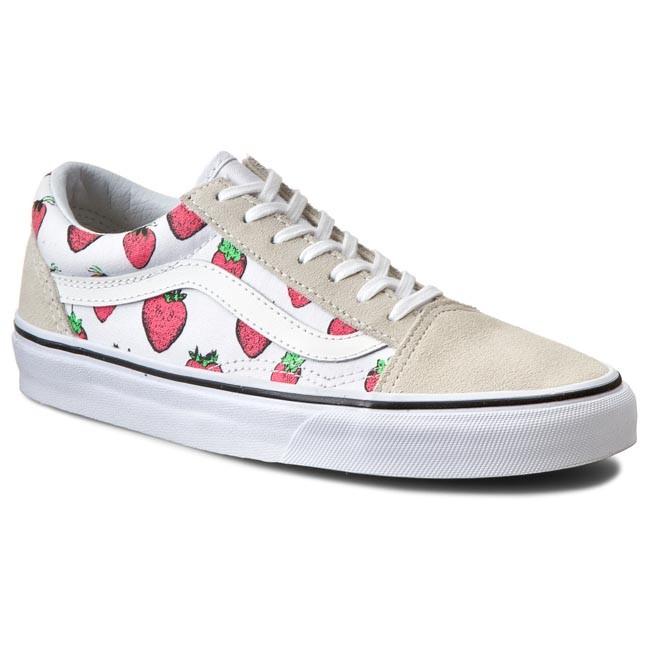 2c5fcfa88d2 Plimsolls VANS - Old Skool VN0003Z6IV0 Strawberries True White ...