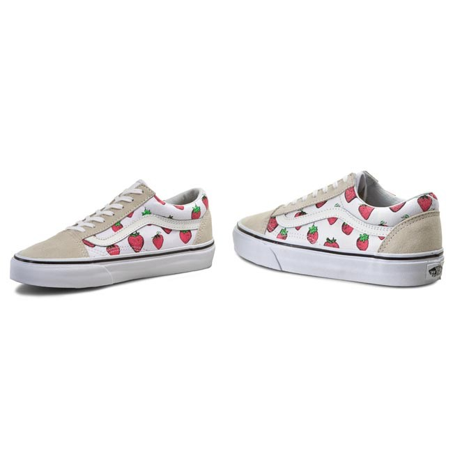 8d5fd78518 Plimsolls VANS - Old Skool VN0003Z6IV0 Strawberries True White ...