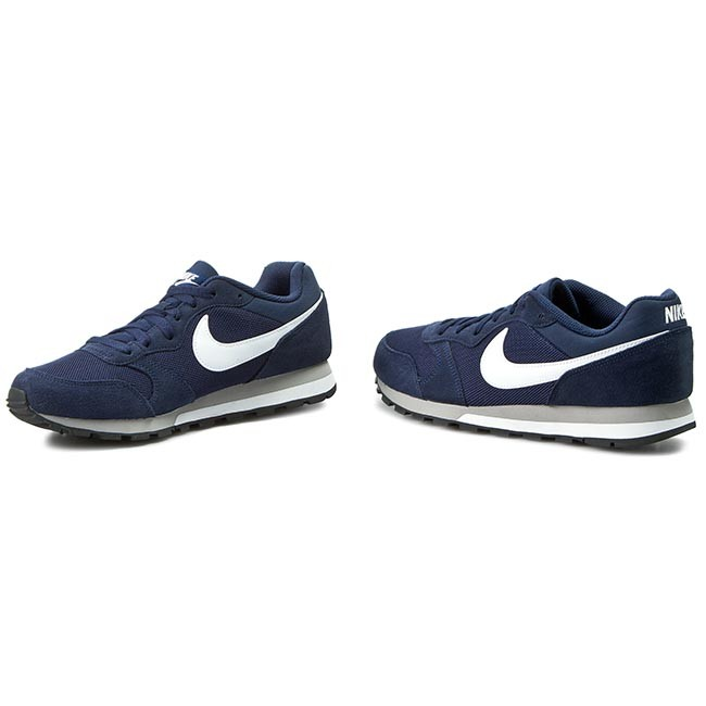 78b03aeec5 Shoes NIKE - Md Runner 2 749794 410 Midnight Navy White Wolf Grey ...