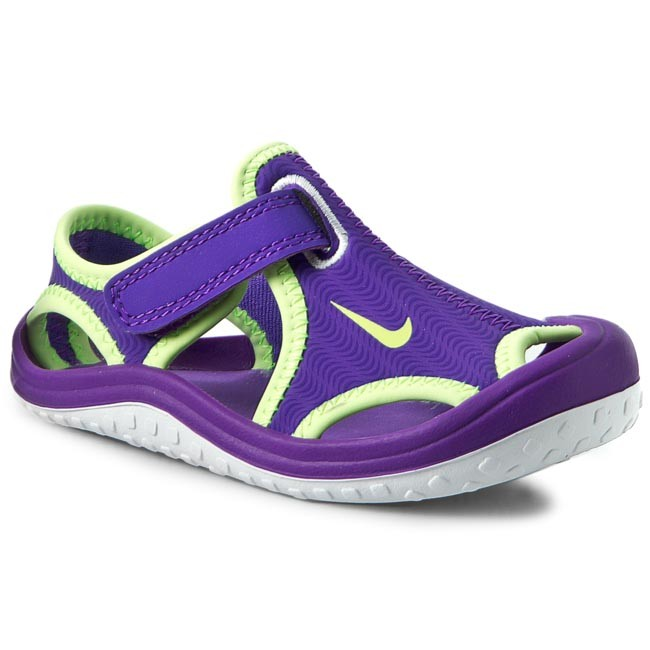19a1e6742fa0 Sandals NIKE - Sunray Protect (Td) 344993 513 Hyper Grape Ghost Green