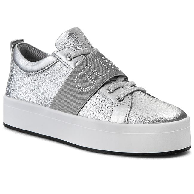 763f22f7f50 Sneakers GUESS - Fhelka FLFHE2 LEA12 SILVE - Sneakers - Low shoes ...