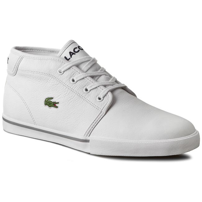 lacoste shoes ampthill sneaker white polish roosters