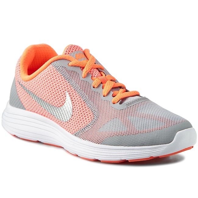 new product 6dc1f 46e5c Shoes NIKE - Revolution 3 (Gs) 819416 800 Brght MangoMtllc Silv