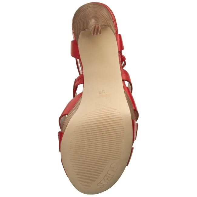 Sandals GUESS Kailee FLKIE2 LEA03 RED