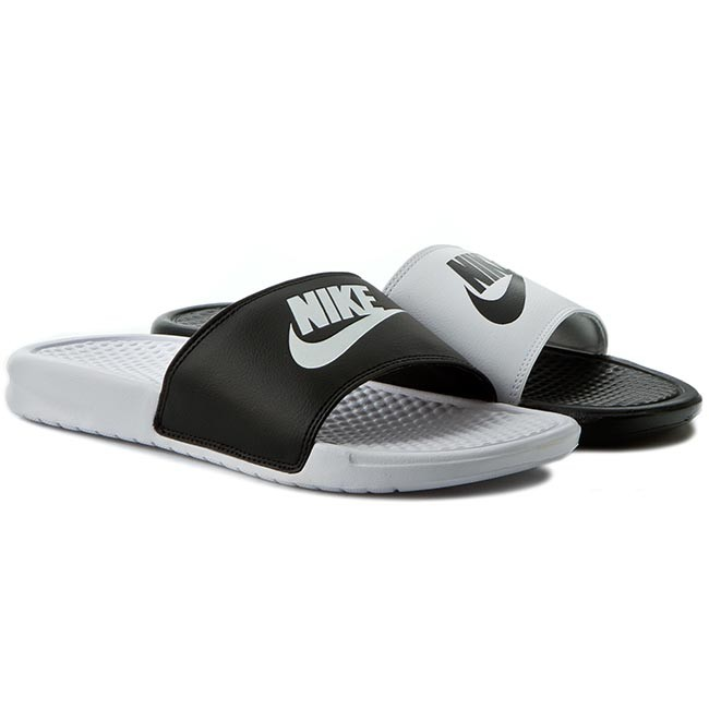 64307643c7c0 Slides NIKE - Benassi Jdi Mismatch 818736 011 Black White - Clogs ...