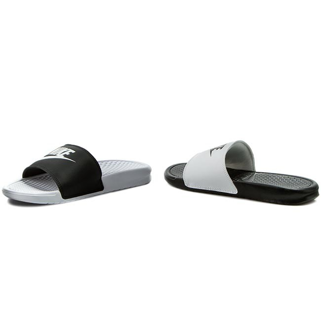 brand new 642a1 5a608 Slides NIKE - Benassi Jdi Mismatch 818736 011 Black White