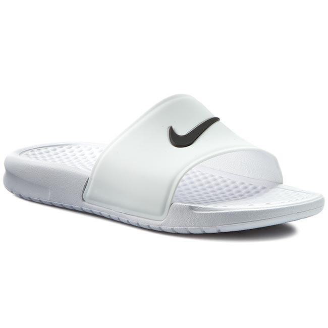 68c3885287c9 Slides NIKE - Benassi Shower Slide 819703 100 White Black - Flip ...