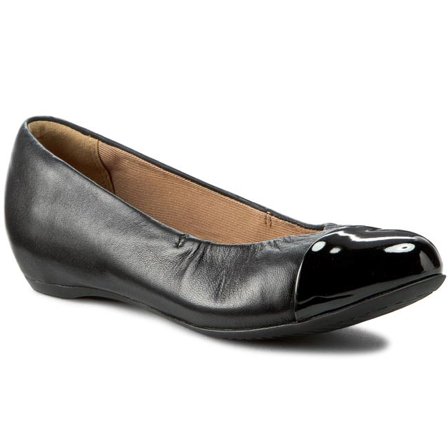 153160dfcb Shoes CLARKS - Alitay Susan 261150214 Black Leather - Flats - Low ...