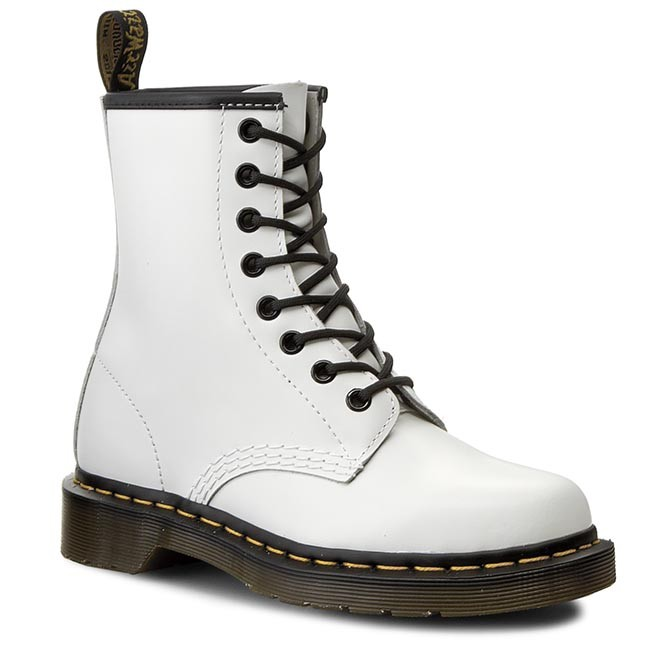 aad532549a2 Combat Boots DR. MARTENS - 1460 10072100 White - Combat boots - High ...