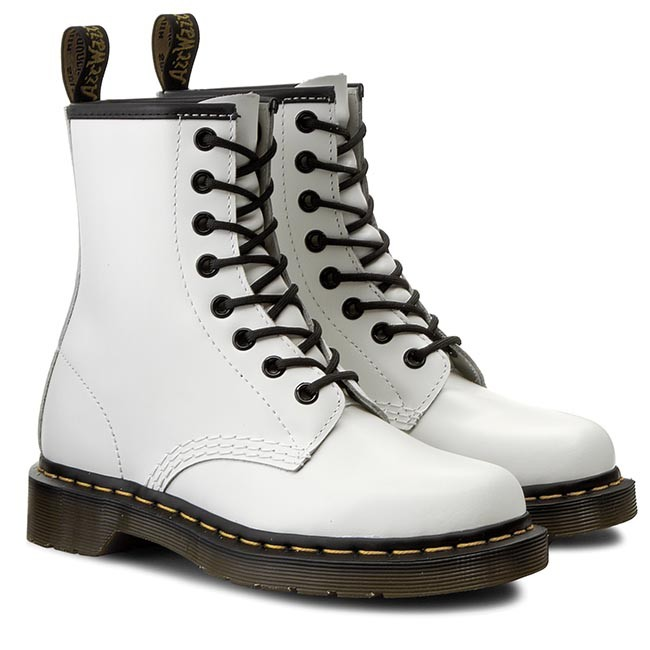 a621aae1f0e Combat Boots DR. MARTENS - 1460 10072100 White - Combat boots - High boots  and others - Women's shoes - www.efootwear.eu