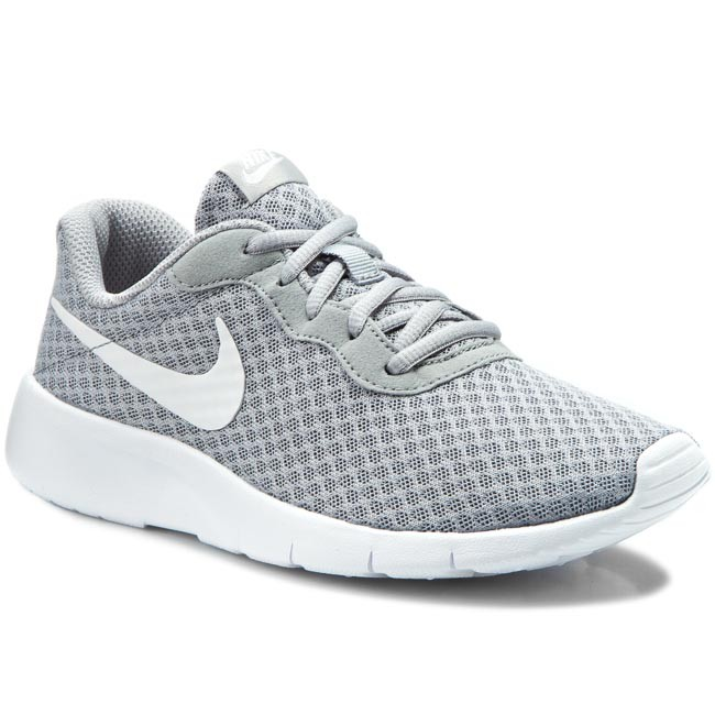 Shoes NIKE - Tanjun (GS) 818381 012 Wolf Grey White White - Laced ... a6ee94595ba